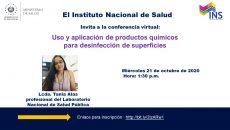 VER INVITACION: USO Y APLICACION DE PRODUCTOS CLINICOS PARA DESINFECCION DE SUPERFICIES