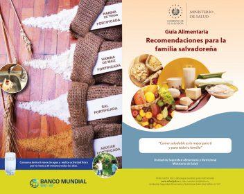 1- Diptico Guía alimentaria | Recomendaciones para la familia salvadoreña