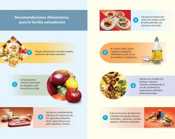 2- Diptico Guía alimentaria | Recomendaciones para la familia salvadoreña
