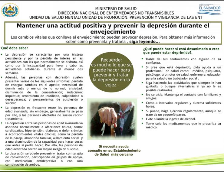 5- MANTENER UNA ACTITUD POSITIVA Y PREVENIR LA DEPRESION DURANTE EL ENVEJECIMIENTO